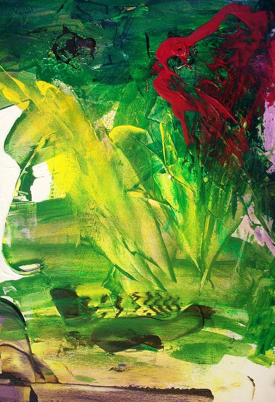 Hurricane Art Print featuring the painting Hurricane Katrina The Beginnings by Bruce Combs - REACH BEYOND