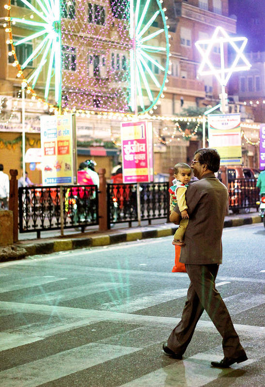 Street Photography Art Print featuring the photograph In Safe Hands by Prakash Ghai