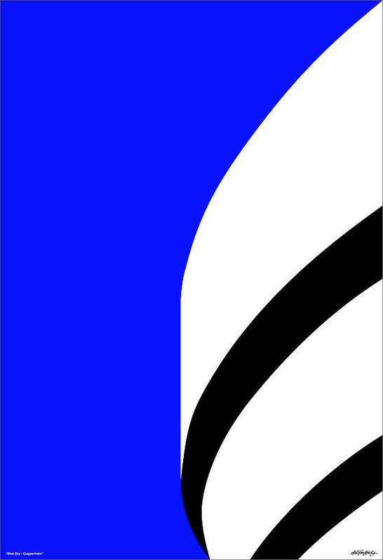 Guggenheim Art Print featuring the digital art Is It Guggenheim by Asbjorn Lonvig