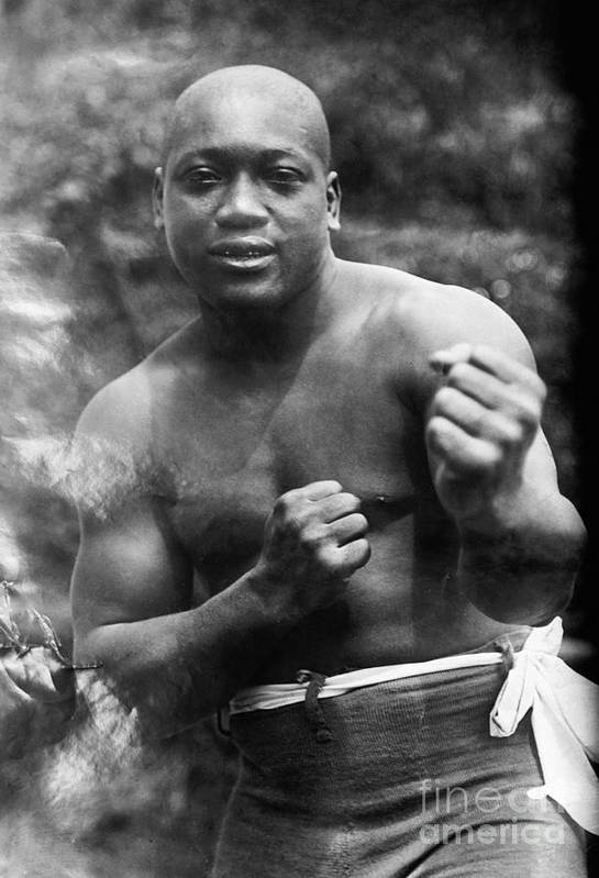 1910s Art Print featuring the photograph Jack Johnson (1878-1946) by Granger