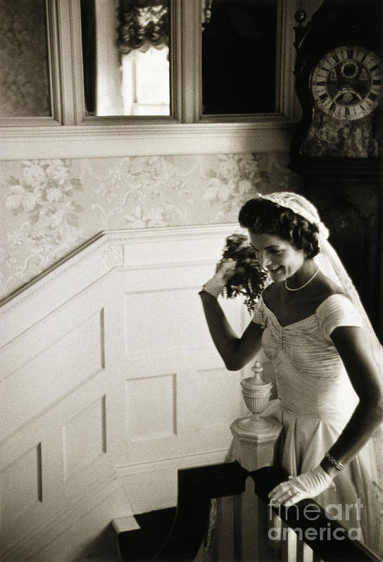 1953 Art Print featuring the photograph Jacqueline Kennedy by Granger