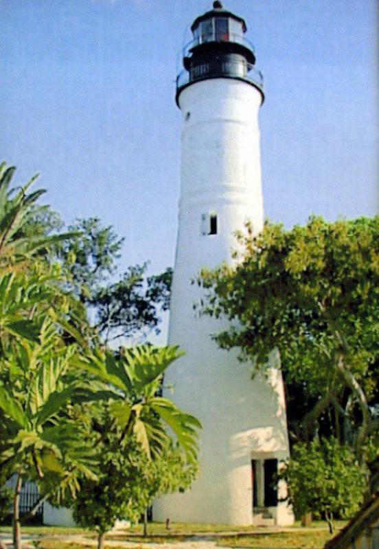 Lighthouse Photographs Art Print featuring the photograph Key West Light by Frederic Kohli