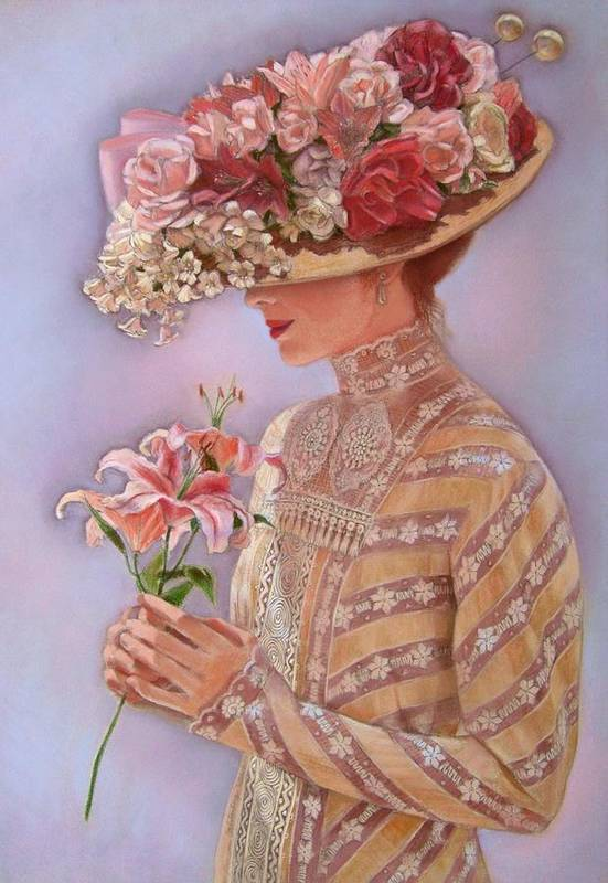 Elegant Art Print featuring the painting Lady Jessica by Sue Halstenberg