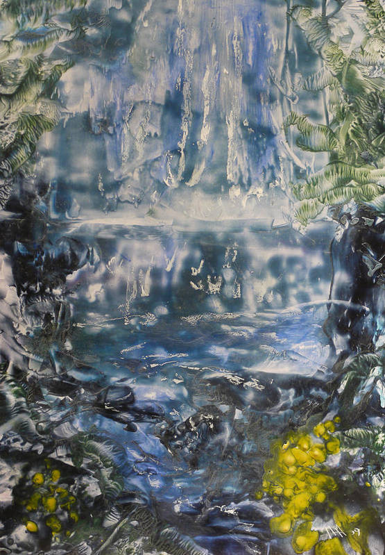 Waterfall Art Print featuring the painting Libby by Heather Hennick