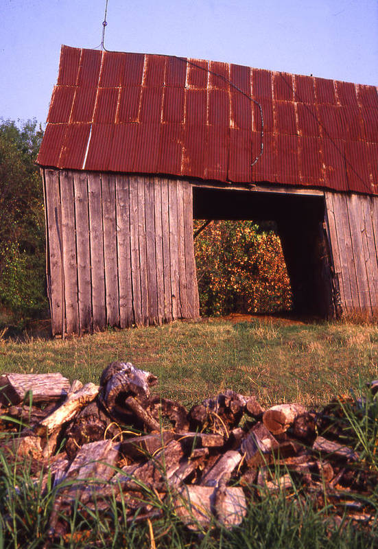 Art Print featuring the photograph Lloyd Shanks Barn2 by Curtis J Neeley Jr