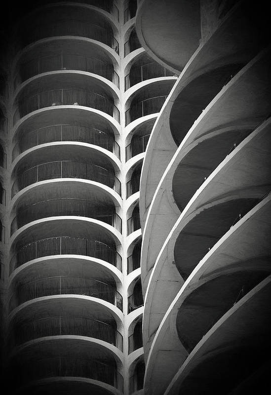Architecture Art Print featuring the photograph Modern Architecture Chicago by JoAnn Silva
