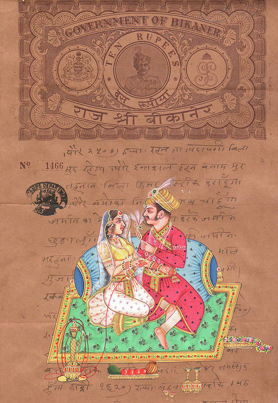 Mughal King Art Of Love Kamsutra Indian Miniature ...
