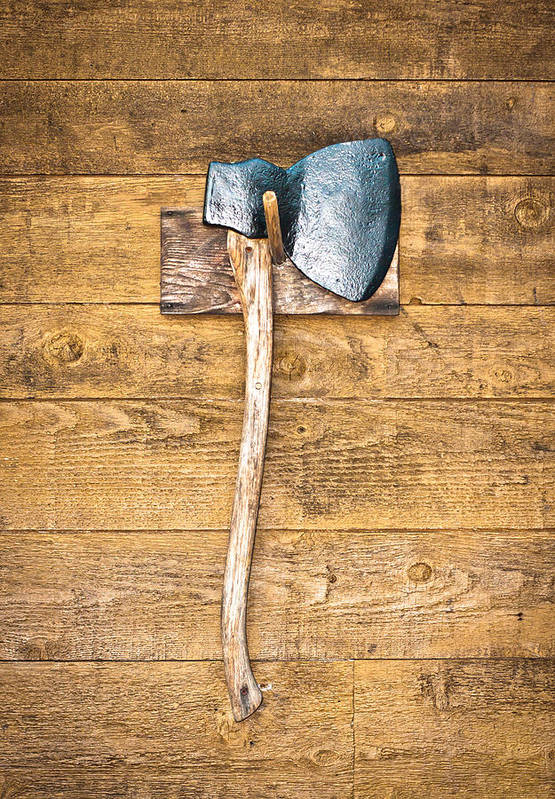 Antique Art Print featuring the photograph Old Axe by Tom Gowanlock