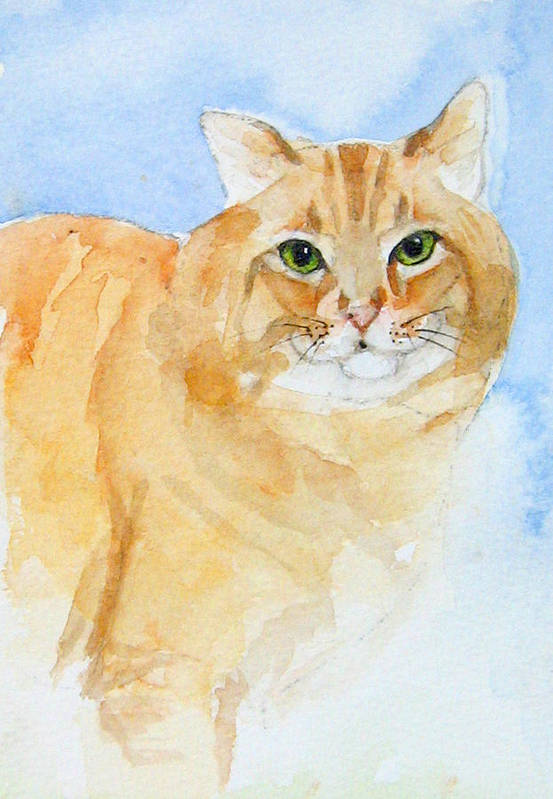 Feline Art Print featuring the painting Orange Taffy by Gina Hall