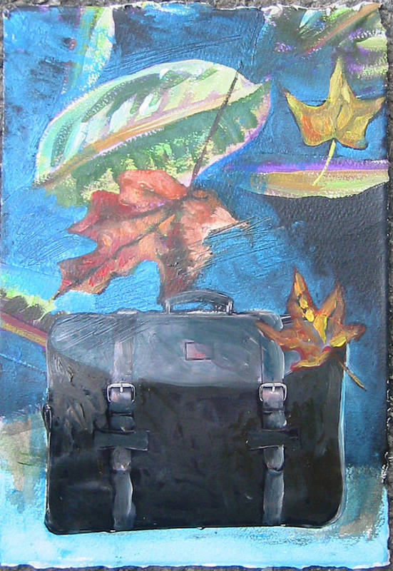 Suitcase Art Print featuring the mixed media Packed Bag by Tilly Strauss