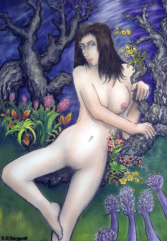 Nude Art Print featuring the painting Pale Flale by Eddie Sargent