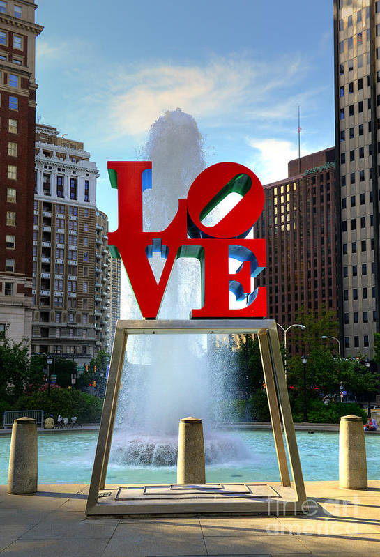 Love Park Art Print featuring the photograph Philly Love by Paul Ward