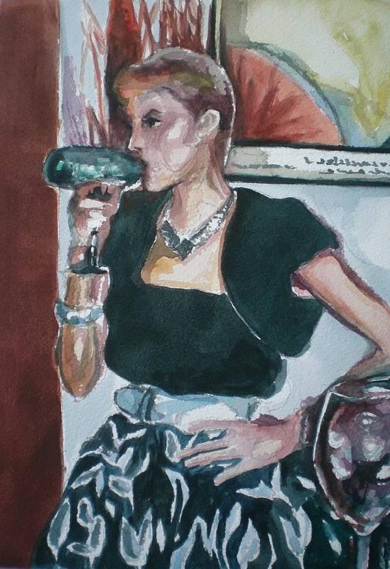 Art Print featuring the painting Playing Dress Up by Aleksandra Buha