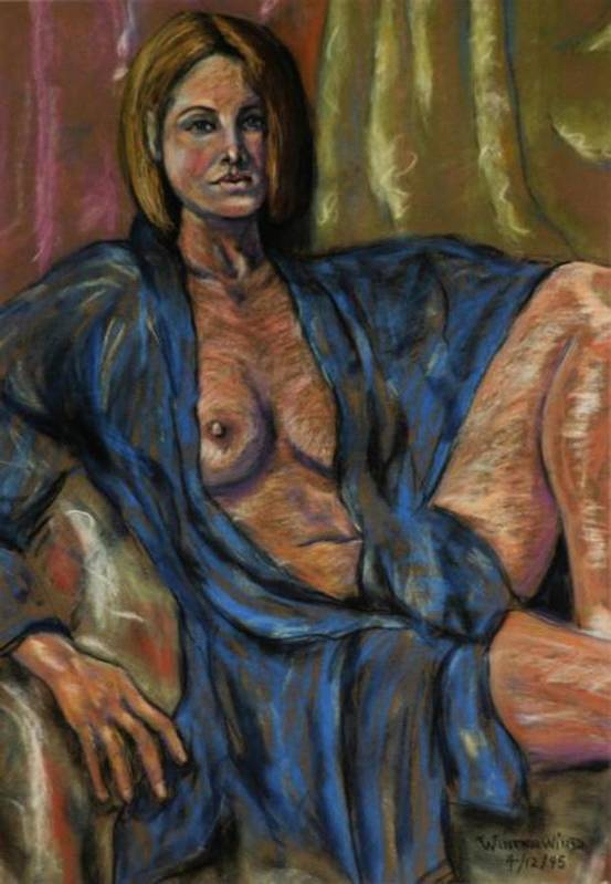 Nude Art Print featuring the painting Portrait Of A Lady by Dan Earle