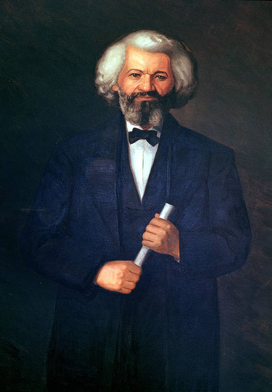 Portrait Of Frederick Douglass (1817-95) (oil On Canvas) By American School (19th Century) Art Print featuring the painting Portrait Of Frederick Douglass by American School