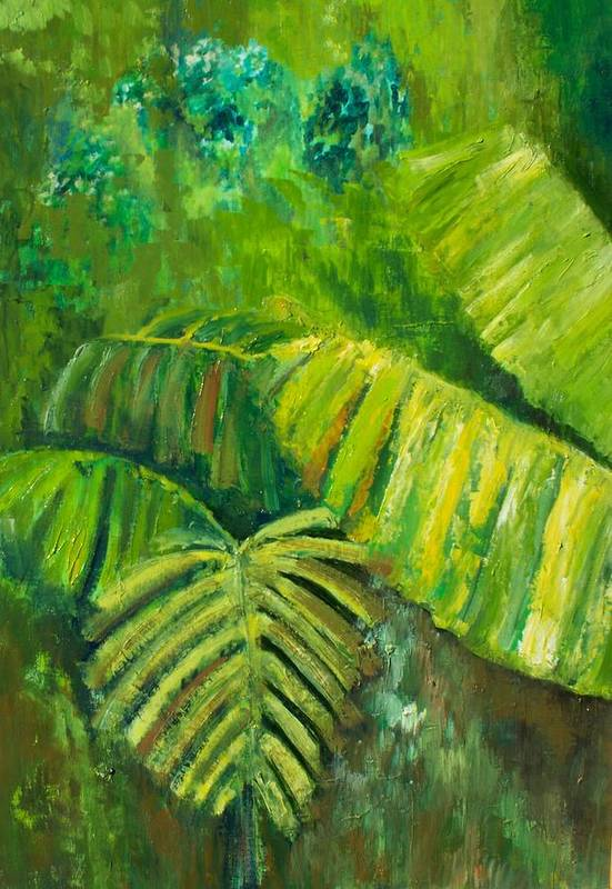 Rain Forest Art Print featuring the painting Rain Forest by Carol P Kingsley