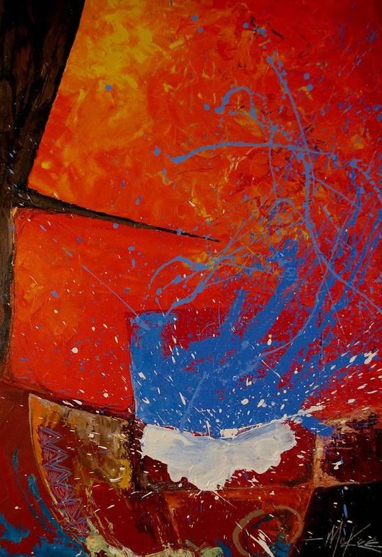 Oil Art Print featuring the painting Raku by David McKee