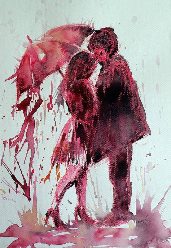 Romantic Art Print featuring the painting Romantic by Kovacs Anna Brigitta