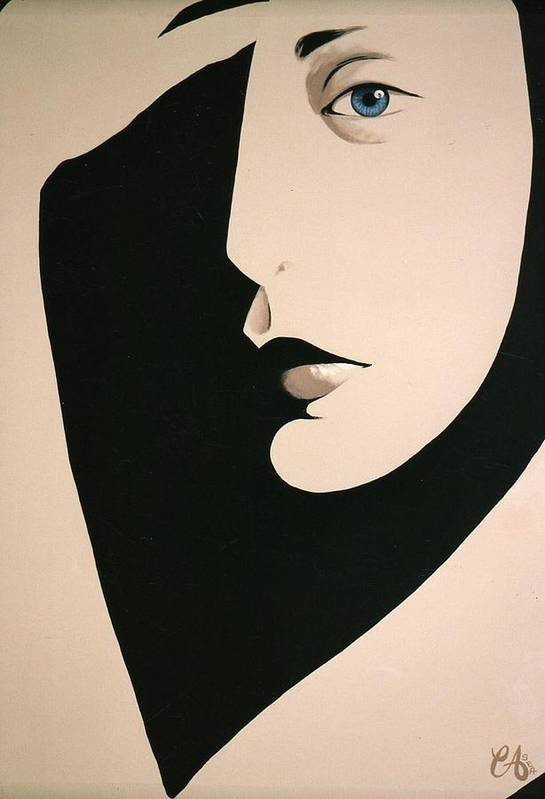 Face Art Print featuring the painting Salute by Carrie Auwaerter
