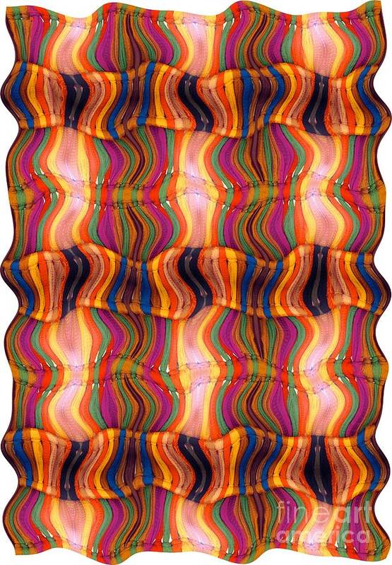 Abstract Art Print featuring the digital art Scarf It Up by Ron Bissett