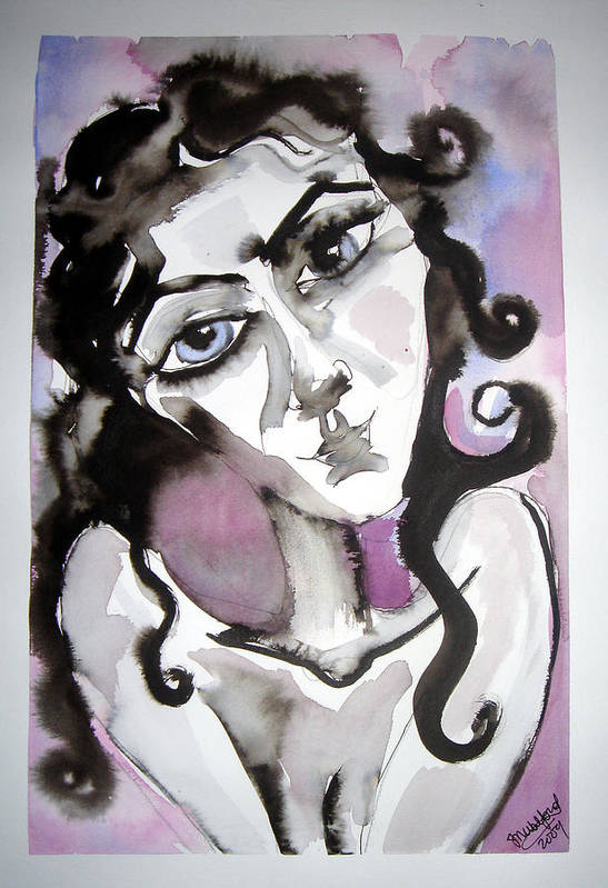 Portrait Art Print featuring the painting She Only Hopes... by Jenni Walford