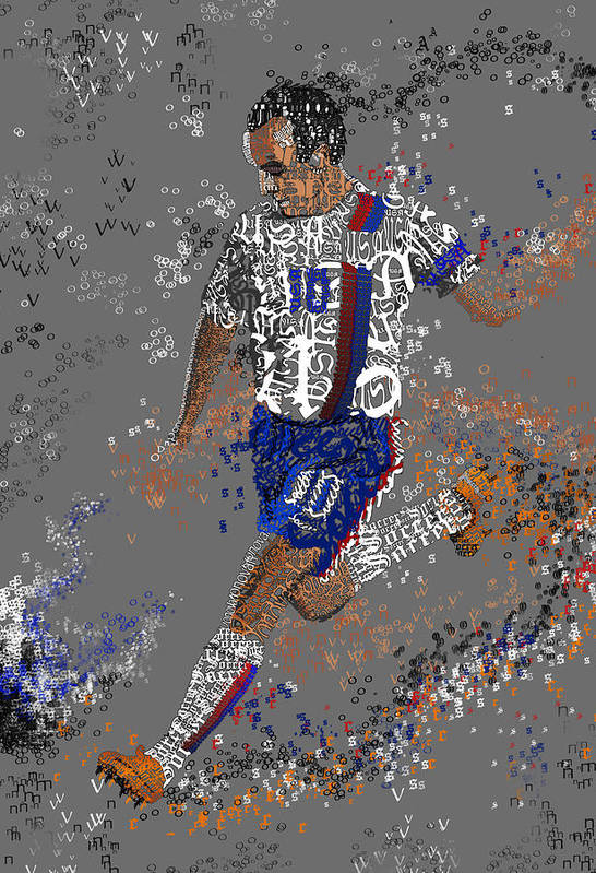 Soccer Art Print featuring the painting Soccer by Danielle Kasony
