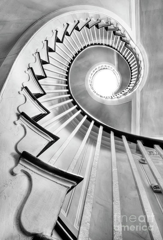 Spiral Staircase Art Print featuring the photograph Spiral Staircase Lowndes Grove by Dustin K Ryan