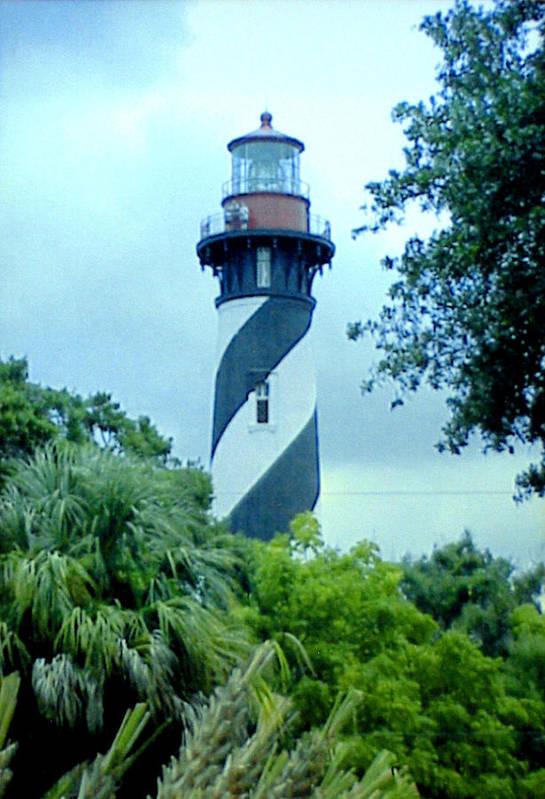 St Augustine Lighthouse Artwork Art Print featuring the photograph St Augustine Lighthouse by Frederic Kohli