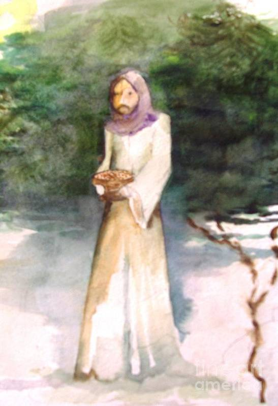 Art Print featuring the painting St Francis by Sandi Stonebraker