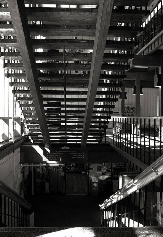 Bw Art Print featuring the photograph Stairways by Joanne Coyle