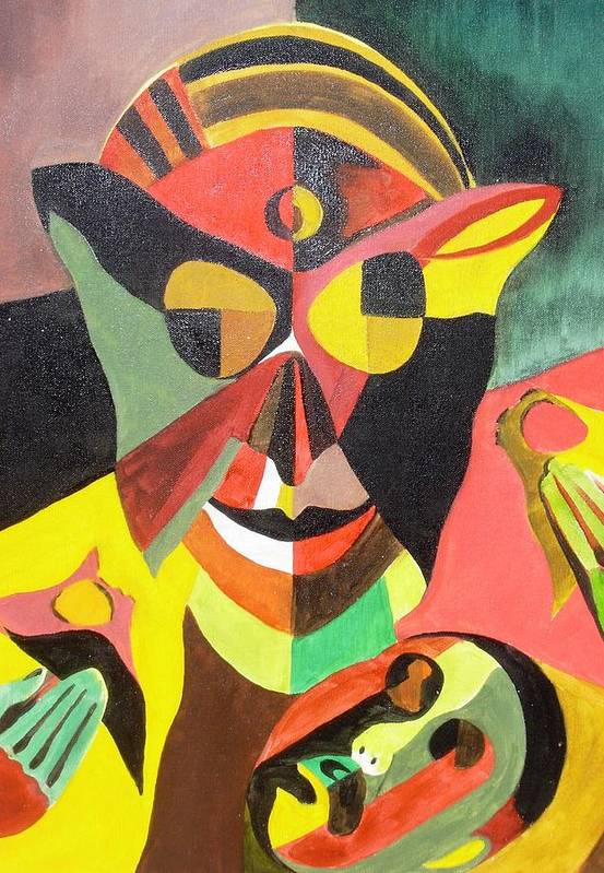 Stigma Art Print featuring the painting Stigma by Surya Prakash Makarla