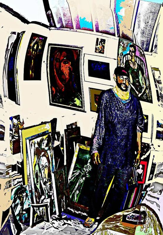 Art Print featuring the digital art Studio 1 by Noredin Morgan