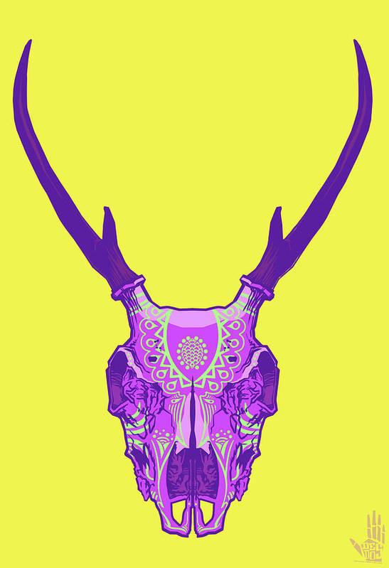 Gypsy Print featuring the digital art Sugar Deer by Nelson Dedos Garcia