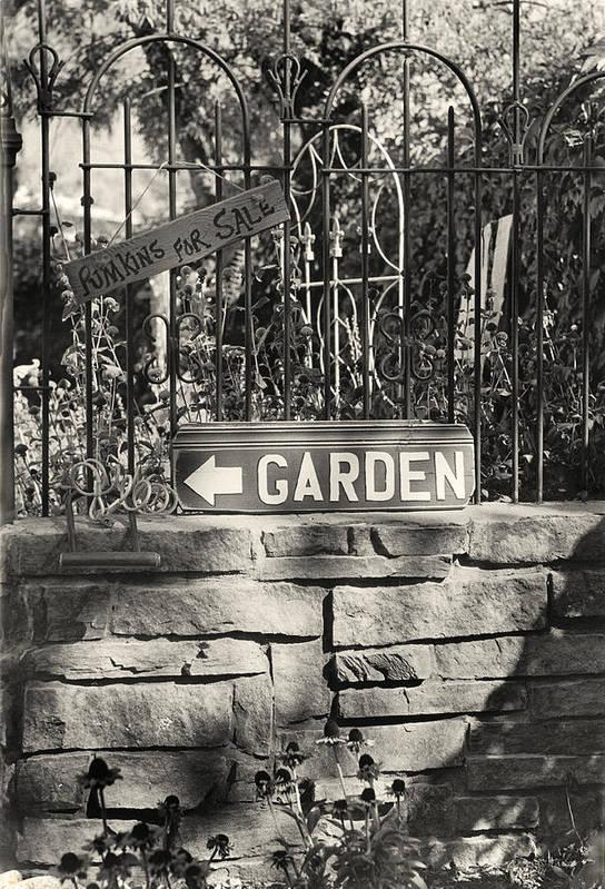 Garden Art Print featuring the photograph The Garden Gate by Jim Furrer
