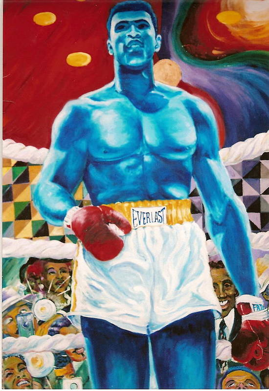 Mohammed Ali Art Print featuring the painting The Greatest by Lee Ransaw