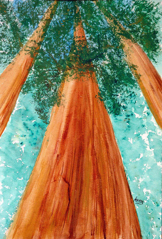 Art Print featuring the painting The Grove At White Sulphur Springs by David Keene