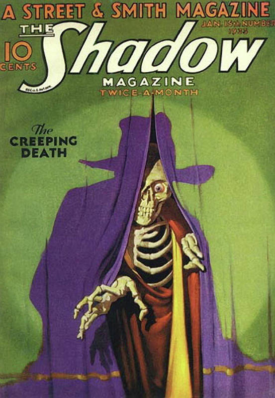 The Shadow Art Print featuring the painting The Shadow The Creeping Death by Conde Nast