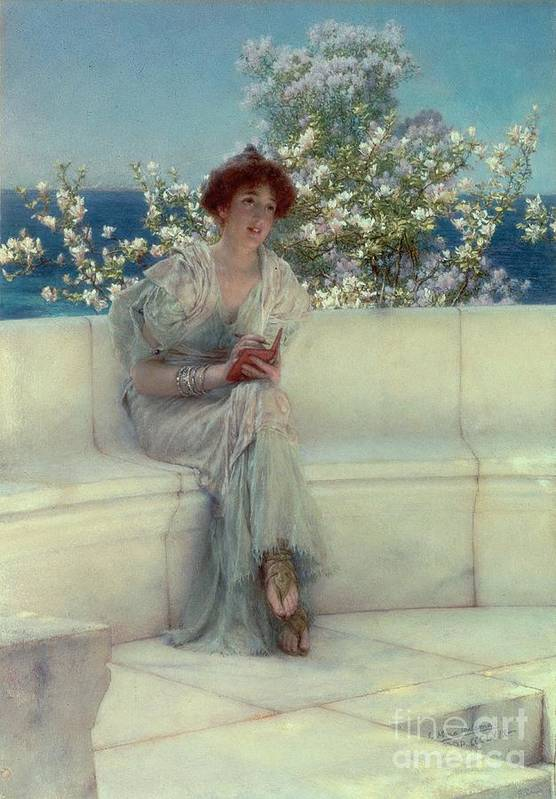 The Art Print featuring the painting The Year's At The Spring - All's Right With The World by Sir Lawrence Alma-Tadema