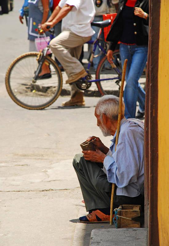 Beggar Art Print featuring the photograph Un Peso Por Favor by Skip Hunt