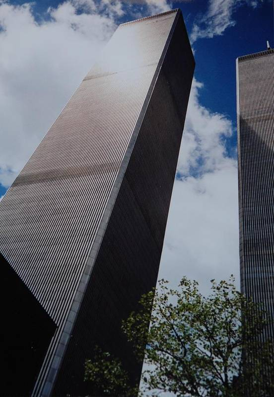 Wtc Art Print featuring the photograph W T C 1 And 2 by Rob Hans