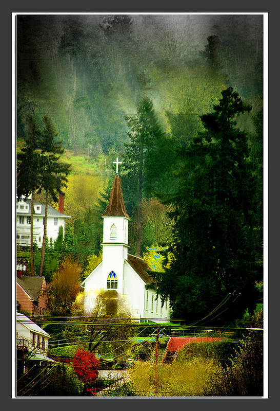 Church Art Print featuring the photograph Worship In Kalama by Dale Stillman