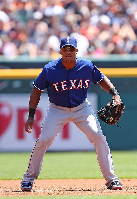Adrian Beltre Art Print featuring the photograph Adrian Beltre by Leon Halip