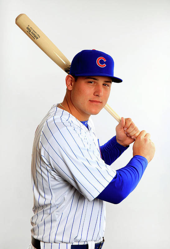 Media Day Art Print featuring the photograph Anthony Rizzo by Jamie Squire