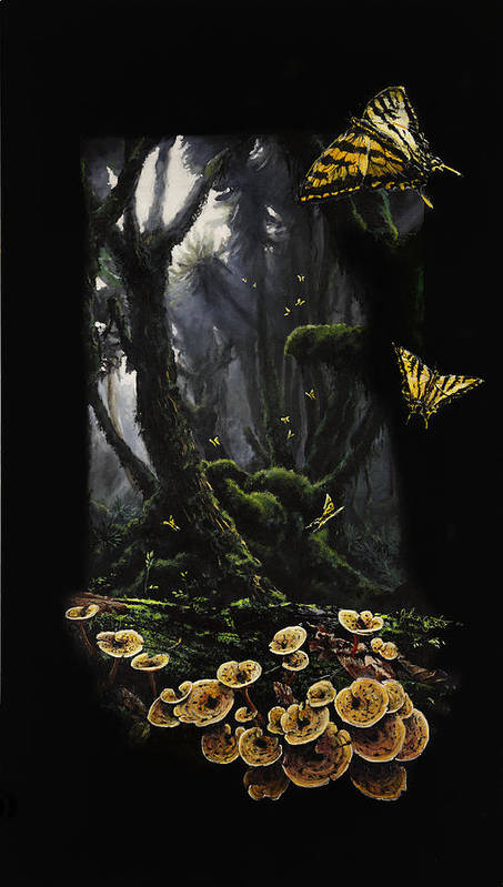 Topical Rainforest Art Print featuring the painting Sanctuary by Johan Gorter