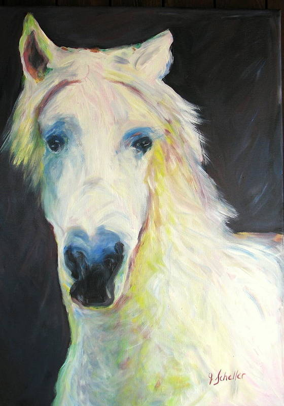 Horse Art Print featuring the painting Bright Eyed Bailey by Jodie Scheller