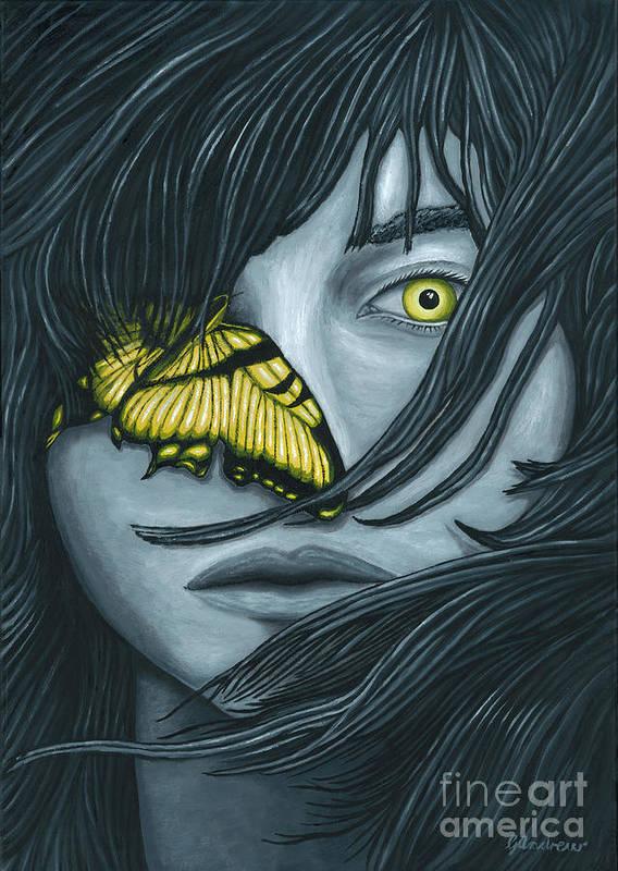Girl Art Print featuring the painting Metamorphia by Gareth Andrew