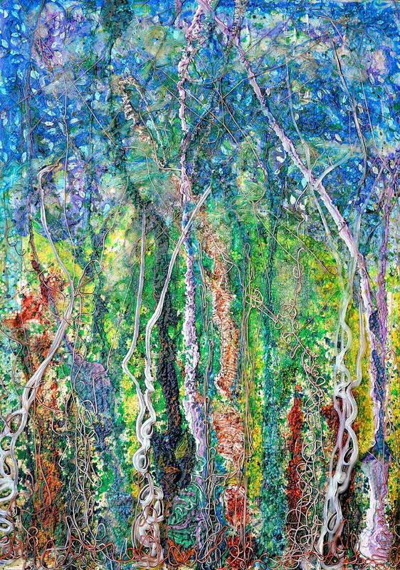 Forest Art Print featuring the painting Sylvan Fantasy by Regina Valluzzi