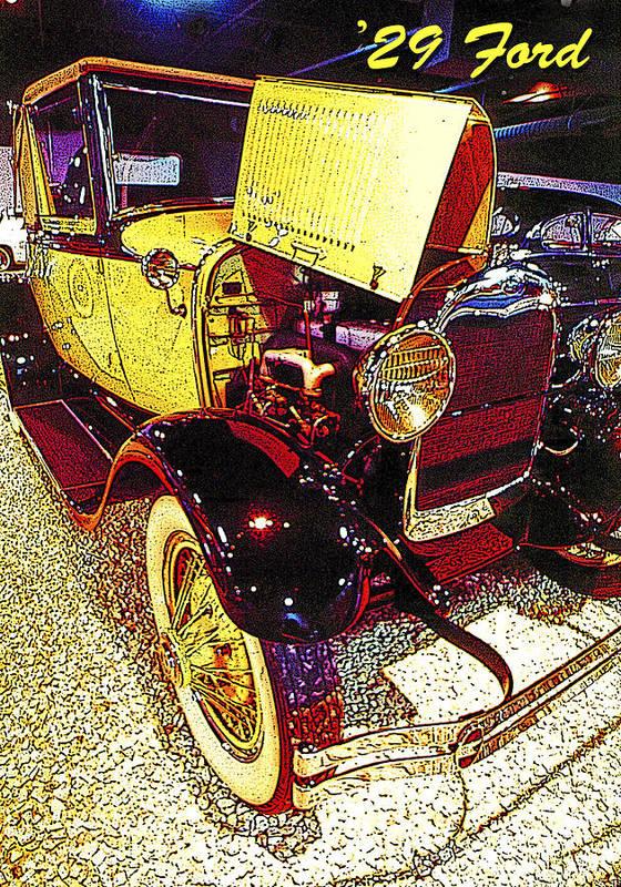 1929 Ford Art Print featuring the photograph 1929 Ford Digital Art by A Gurmankin