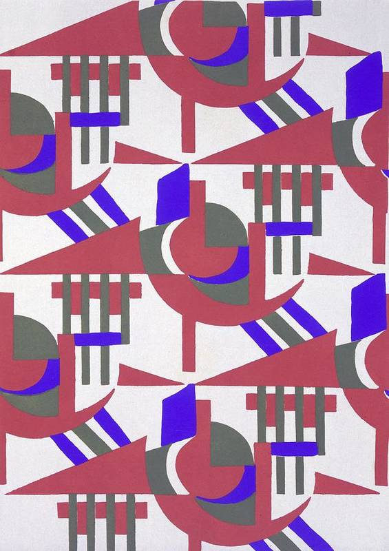 Design Art Print featuring the painting Design From Nouvelles Compositions Decoratives by Serge Gladky