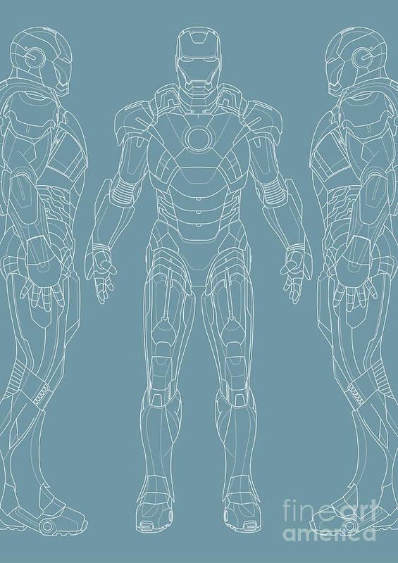 Iron Man Art Print featuring the digital art Iron Man by Caio Caldas